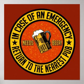 NEEDS BEER! poster