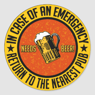 NEEDS BEER! stickers