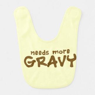 Needs more gravy baby bib
