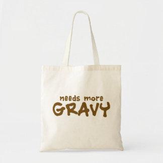 Needs more gravy canvas bag
