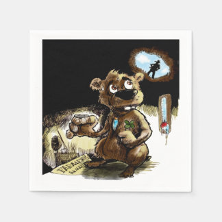 Needs Some Luck Groundhog Day Party Paper Napkins
