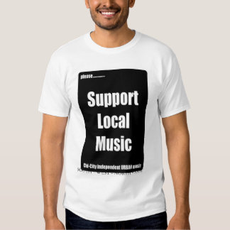 Nef Entertainment Support Local Music T-Shirt