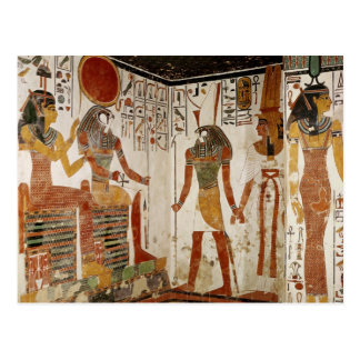 Nefertari is brought before the god postcard