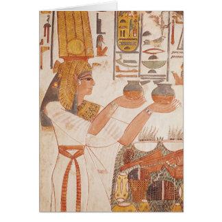 Nefertari Making an Offering Card