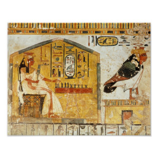 Nefertari playing senet poster