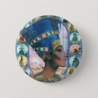 Nefertiti 6 Cm Round Badge