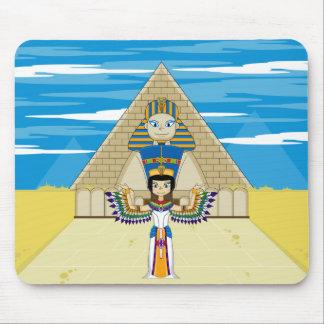 Nefertiti & Great Sphinx of Giza Mouse Pad