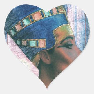 Nefertiti Heart Sticker