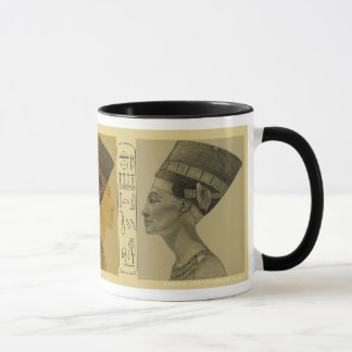 Nefertiti pencil gold and grey mug