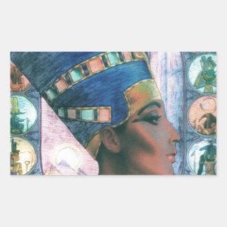 Nefertiti Rectangular Sticker