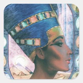 Nefertiti Square Sticker