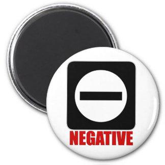 Negative 1 Red Fridge Magnet