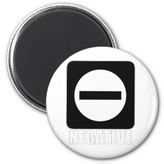 Negative 1 White Refrigerator Magnet