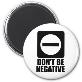 Negative 2 Black Fridge Magnets