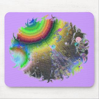 Negative Enamel Sunburst Oval Frame Mouse Pad