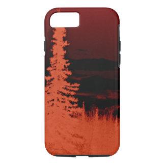 Negative Image Orange Camouflage Forest iPhone 7 Case