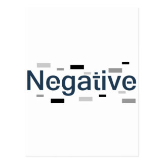Negative Postcard