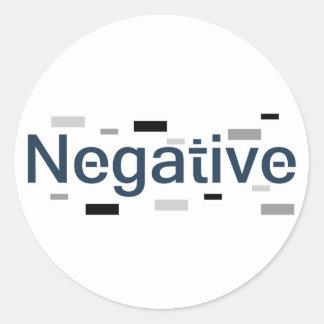 Negative Round Sticker