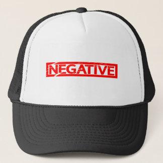 Negative Stamp Trucker Hat