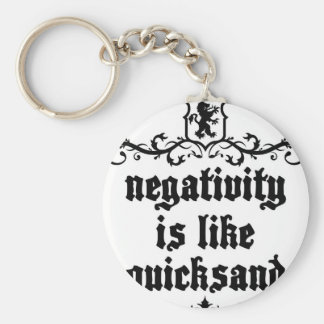 Negativity Is Like Quicksand Medieval quote Key Ring