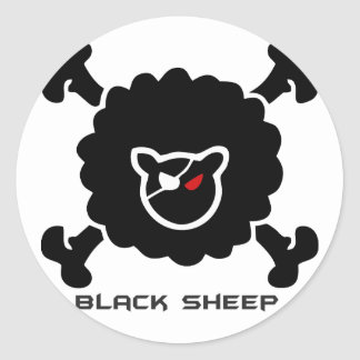 Negra sheep classic round sticker