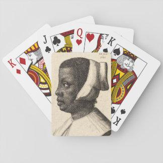 Negress by Wenceslaus Hollar Poker Deck