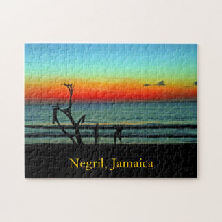 Negril Beach Sunset Jigsaw Puzzle