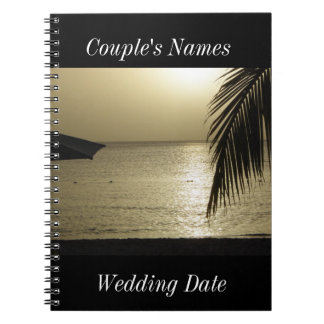 Negril Jamaica Wedding Guestbook Notebook