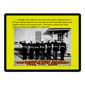 Negro Marines spend $54 out Poster