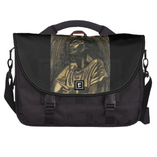 NEGRO WOMAN IN THOUGHT laptop bag