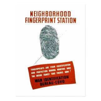 Neigborhood Fingerprint Station Postcard