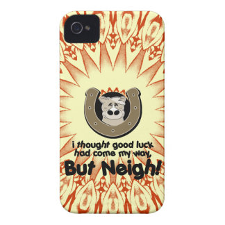 Neigh Luck Horse iPhone Case iPhone 4 Case-Mate Case