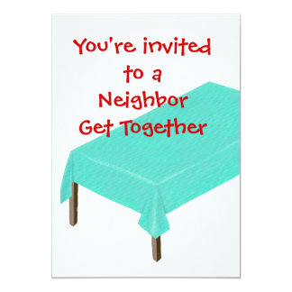 Neighbor Get Together Invitations, customize Card