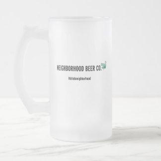 Neighborhood Beer Co. Frosted Glass Mug
