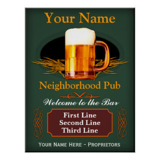 Neighborhood Pub Sign (Personalized)
