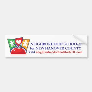 Neighborhood Schools Bumper Sticker Car Bumper Sticker