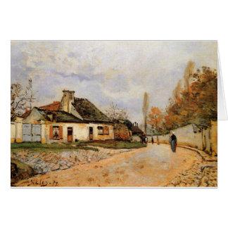 Neighborhood Street in Louveciennes Alfred Sisley Greeting Card