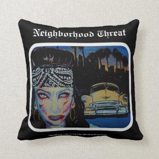 'Neighborhood Threat' Zombie (Throw) American MoJo Throw Cushion