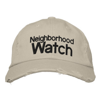 Neighborhood Watch Hat Embroidered Baseball Caps