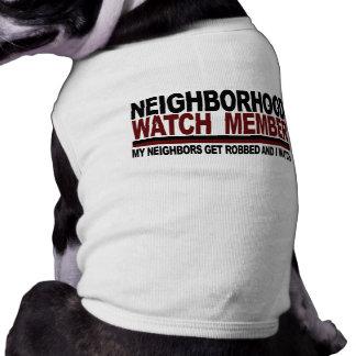 Neighborhood Watch Member Sleeveless Dog Shirt