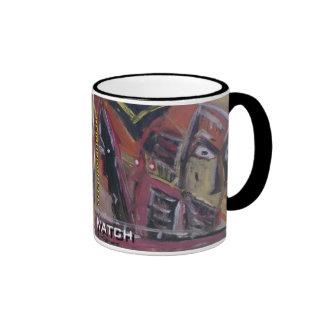 neighborhood watch ringer mug