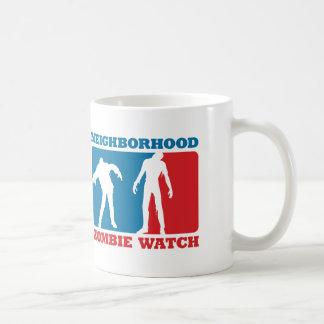 Neighborhood Zombie Watch - Red and Blue Mugs