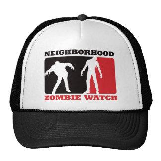 Neighborhood Zombie Watch - Red Trucker Hats