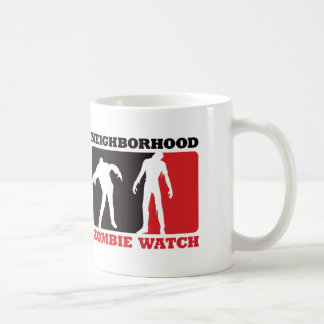Neighborhood Zombie Watch - Red Coffee Mugs