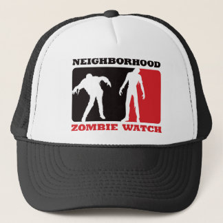 Neighborhood Zombie Watch - Red Trucker Hat