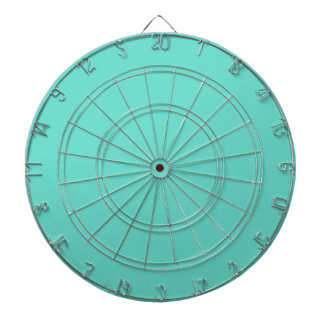 Neighborly Quietude Turquoise Blue Color Dartboard