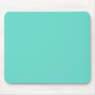 Neighborly Quietude Turquoise Blue Color Mouse Pad
