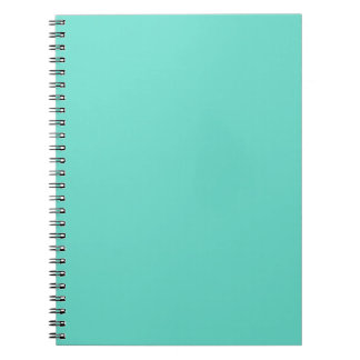 Neighborly Quietude Turquoise Blue Color Notebooks