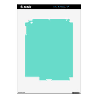 Neighborly Quietude Turquoise Blue Color Skins For iPad 2