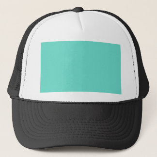 Neighborly Quietude Turquoise Blue Color Trucker Hat